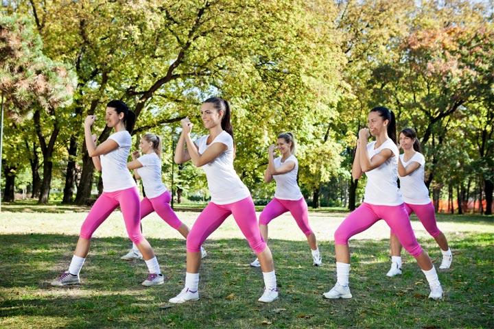 אימון כושר קבוצתי בפארק הירקון