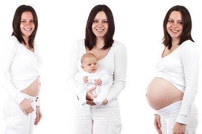 אישה לפני ואחרי ההריון