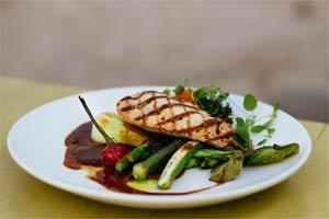 חזה עוף בגריל עם ירקות